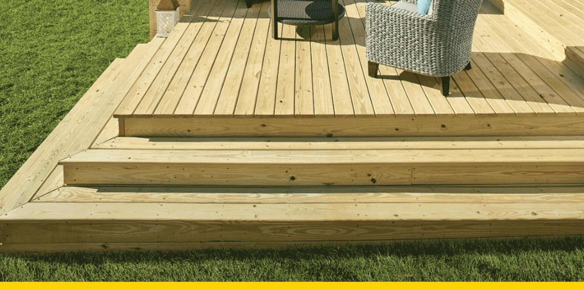 Treated Lumber Deck